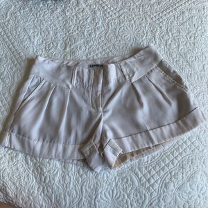 White Express Satin Shorts